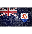 Flags Anguilla with broken glass texture vector image