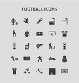 football icons vector image vector image