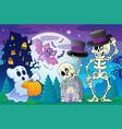 halloween topic scene 5 vector image vector image