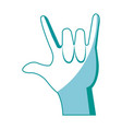 hand man rock n roll gesture music icon vector image vector image