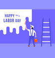 happy labor day with handyman vector image