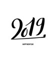 happy new 2019 year with vector image vector image