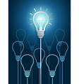 light bulb ideas3 vector image vector image