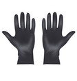 medical latex protective gloves realistic black vector image