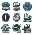 Nautical Emblem Set In Color