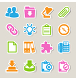 Office sticker icons set vector image vector image