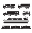 Oil Industry Vehicles Transportation Silhouette vector image