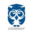 owl education logo vector image vector image
