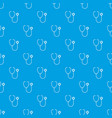 phonendoscope pattern seamless blue vector image vector image