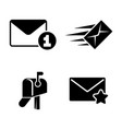 post simple related icons vector image