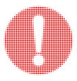 problem halftone icon vector image vector image