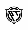 pt logo with triangle shape and circle vector image vector image