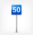 road blue signs collection isolated on white vector image vector image