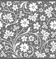 seamless blue lace background with floral pattern vector image vector image