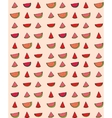 seamless pattern of slices watermelon vector image vector image