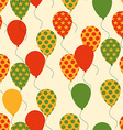 Seamless Pattern with Colorful Balloons Background vector image vector image