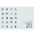 Set of creative process icons vector image