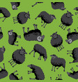 sheep black pattern vector image vector image
