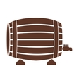 silhouette with Liquor barrel in brown color vector image