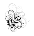 Simple black and white swirling foliate design vector image