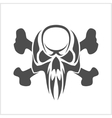 Skull and crossbones - isolated on white vector image