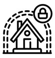smart house protect icon outline style vector image vector image