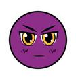 smiling emoticon facial expression vector image