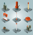 smoking color gradient isometric set vector image