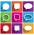 Speech bubble icons Think cloud symbols vector image