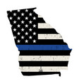 state georgia police support flag vector image vector image