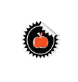 sticker of apple color vector image vector image