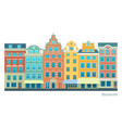 stockholm - stortorget place in gamla stan vector image