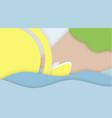 summer concept paper cut web banner template sea vector image vector image