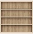 wooden empty bookshelf shelves for the warehouse vector image