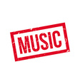 Music rubber stamp vector image