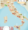 Map of Regional Pasta in Italy vector image