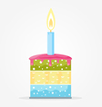 Cake with Candle vector image