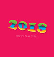 2018 happy new year creative design numbers and vector image