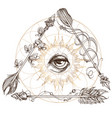 a magical eye in the frame of arrows elements in vector image vector image