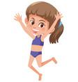 a young girl wearing bikini vector image