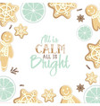 all is calm all is bright holiday greeting card vector image vector image