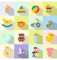 Baby flat icon set vector image vector image