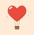 big heart balloon vector image vector image