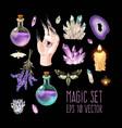 big set witch craft supplies vector image vector image