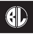Bl logo initial with circle line cut design