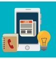 Blog and blogger social media design vector image vector image