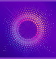blue abstract disco background with neon glowing vector image vector image