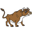 bull logo mascot vector image vector image