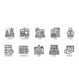 business icons set 1 vector image vector image
