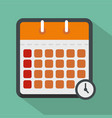calendar time icon flat style vector image